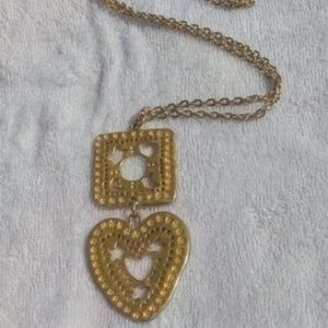 Avon Gold Big Heart Modern Necklace
